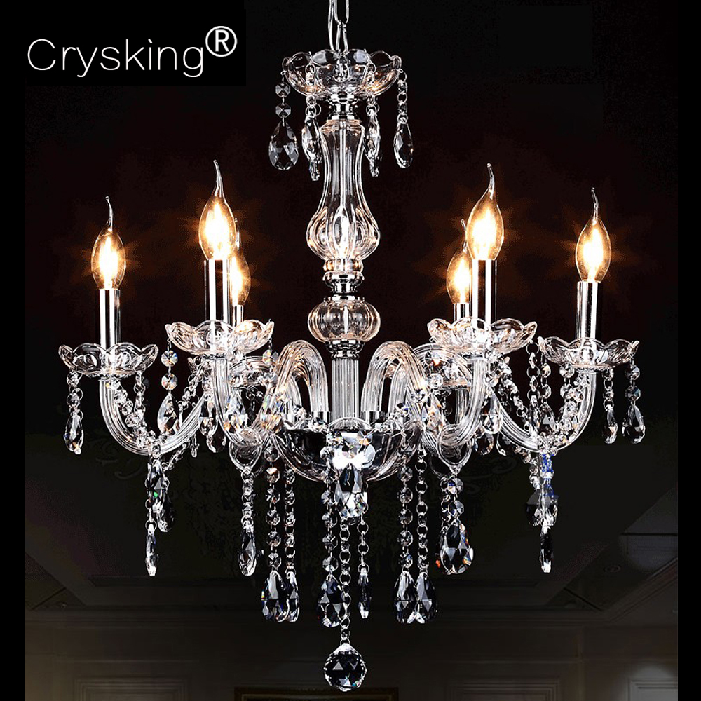 Crystal Chandelier Russia Modern Lustre De Cristal Living Room Lighting Luminaria Ceiling