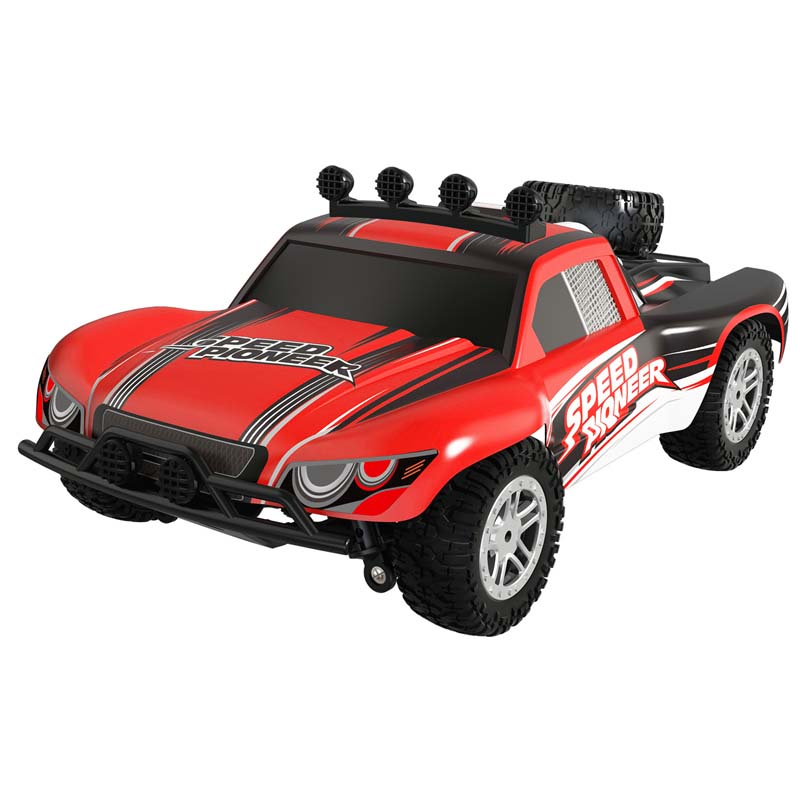 ФОТО RC Car 1/18 2.4GHz RC Monster 50km High Speed Dirt Bike Remote Control Off Road Crawler RC Car Model With LED Light