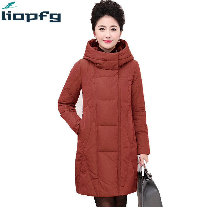 Brand Winter Cotton 2018 New Mom Down Jackets 6XL Size In The Long Section Of High Quality Cotton Clothe Parkas Coat WM561