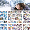 12 Sheets Nail Art Water Transfer Sticker Full Cover Decals Winter Beauty Lady Girl Frozen Design Stickers Wrap Tips Decoration