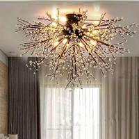 Ceiling Light Fixture Crystal Lustres Lamp For Living Room Bedroom Crystal Ceiling Lamp Home Lighting Ceiling