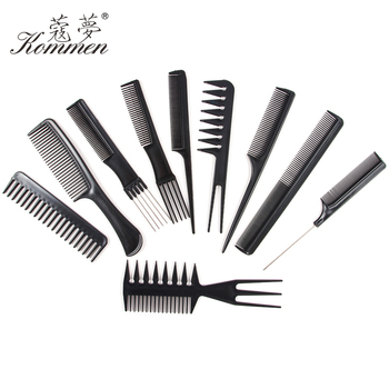 10 Style Anti-static Hairdressing Detangle Straight Hair Brushes Barber Hair Cutting Salon Black Hair Brush Slim Line Teasing