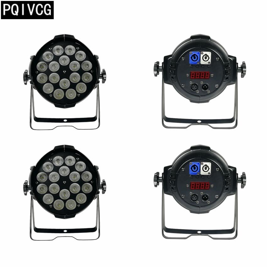 4pcs/18x12w led par light aviation plug rgbw 4in1 flat par lights profession dmx512 led lights 4pcs 18x12w led par lights with 1 flight case led par light rgbw 4in1 led par led luxury dmx 6 8 channels led flat par lights