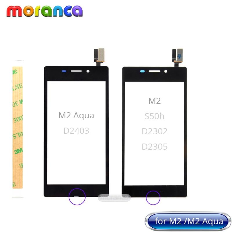 Touchscreen per Sony M2 S50H D2303 D2305 Pannello Frontale di Vetro per Sony Xperia M2 Aqua D2403 Sensore Touch Screen Digitizer + 3 m di NastroTouchscreen per Sony M2 S50H D2303 D2305 Pannello Frontale di Vetro per Sony Xperia M2 Aqua D2403 Sensore Touch Screen Digitizer + 3 m di Nastro