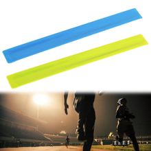 Fluorescent Cycling Wheel Bicycle Reflector Fluorescent Bike Sticker Tape Leg Strap Reflective Stickers Safe Decal Accessories 12 pcs bicycle wheel reflective spokes stickers rim steel wire safe accessories green