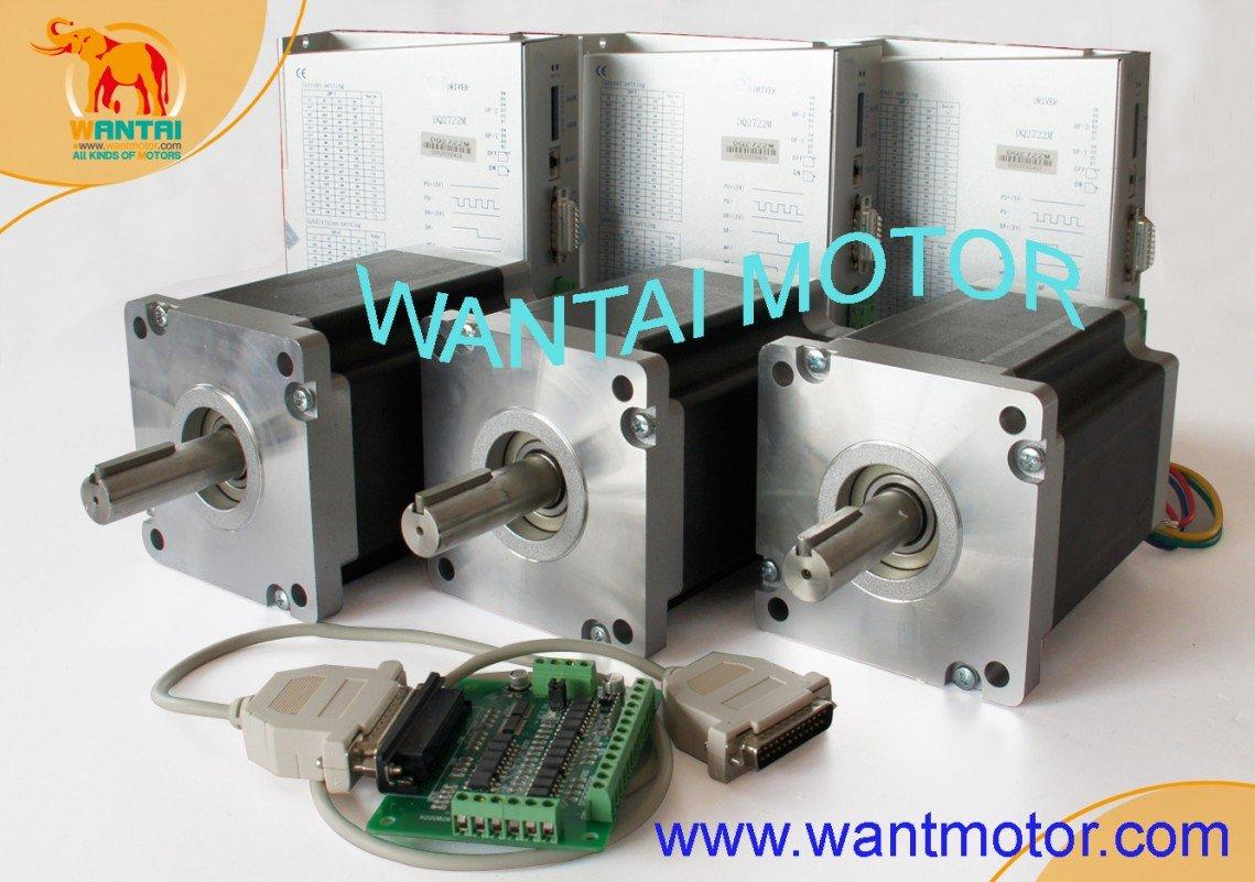 High Quality 3 Axis Nema 42 Stepper Motor 4200oz-in, 8A CNC & 220VDC Driver Mill Control  110BYGH201-001  цена и фото
