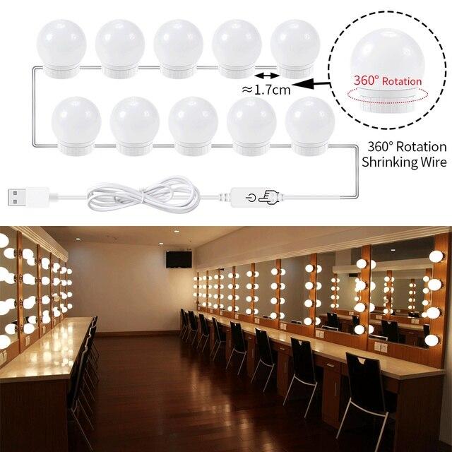 Vanity Lights Wall Lamp on Mirror Led Bulb USB Espelhos Camarim ...