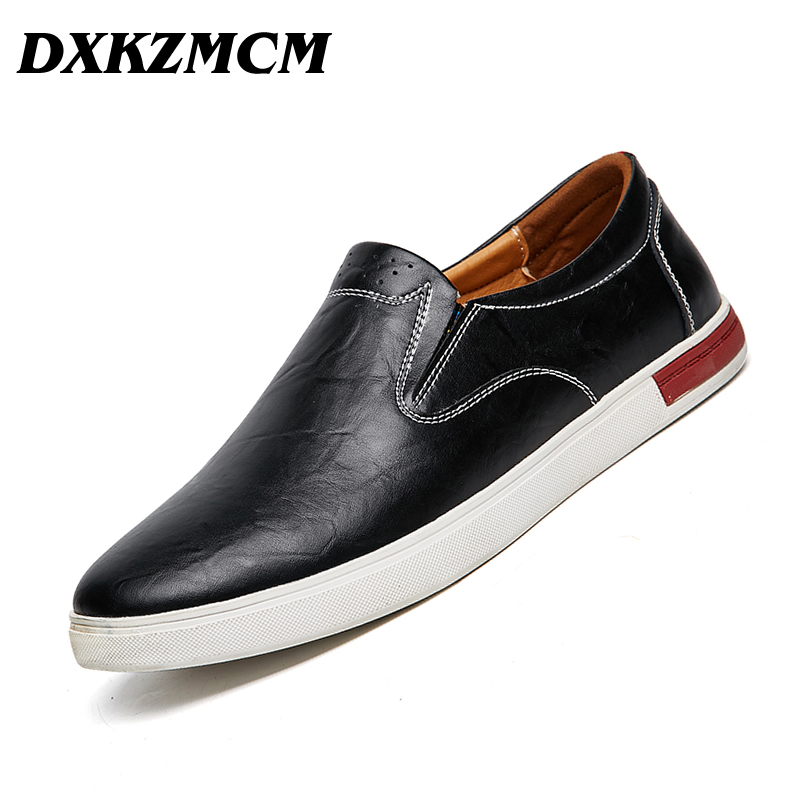 DXKZMCM Men Casual Shoes 2017 Spring Autumn Fashion Genuine Leather Men Shoes 2017 new spring imported leather men s shoes white eather shoes breathable sneaker fashion men casual shoes
