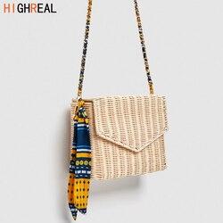 Hot Summer Beige Black Women Shoulder Bag Hand Made Exquisiteness Straw Bags Woven Flap Sweet Pastoral Rattan Girls Bag