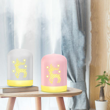20Hours Super Quiet 340ml Deer Shape Ultrasonic Air Humidifier with Colorful Lights Usb Portable Cool Mist Atomizer Mist Maker