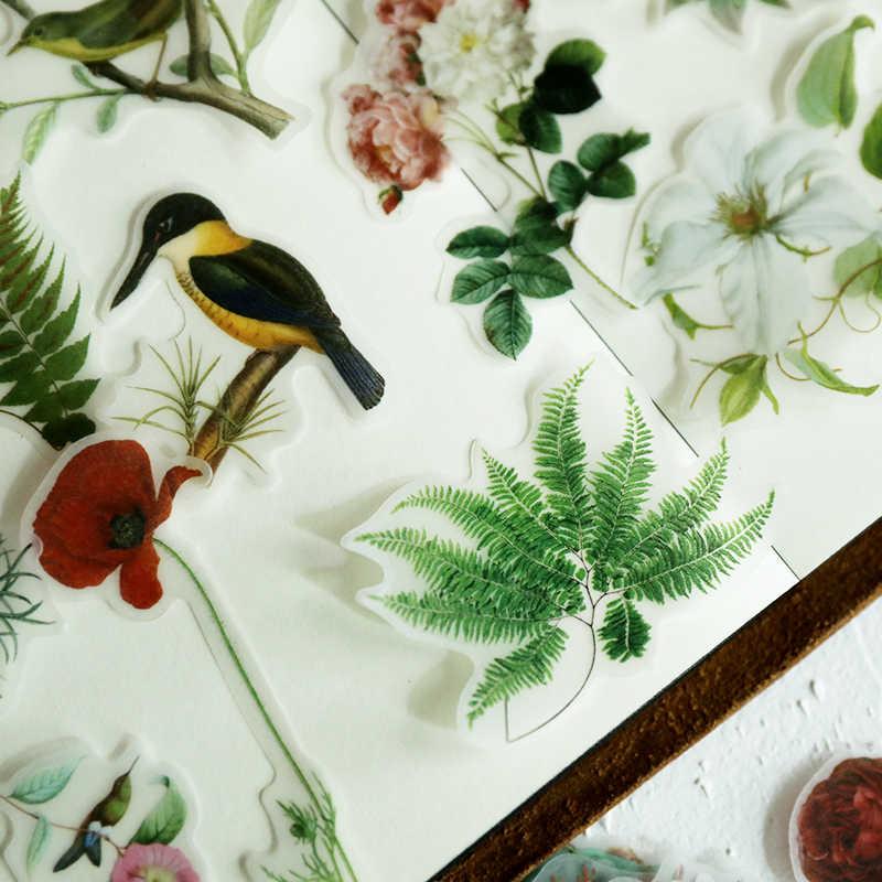 KSCRAFT ดอกไม้และนกภาพประกอบ Vellum สติกเกอร์กระดาษสำหรับ Scrapbooking Happy Planner/การ์ด/Journaling โครงการ
