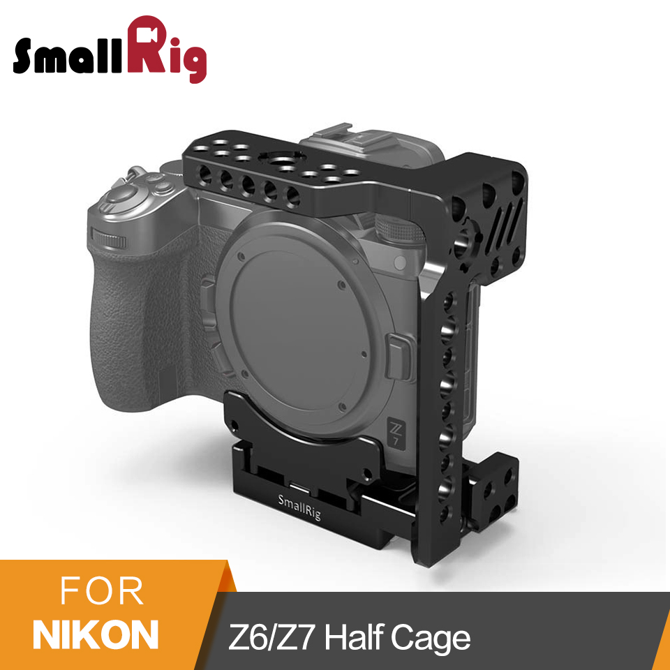 SmallRig  Z6/Z7 Quick Release Half Cage for Nikon Z6/Z7 Cage With Built-in Manfrotto Plate And Side Nato Rail - 2262SmallRig  Z6/Z7 Quick Release Half Cage for Nikon Z6/Z7 Cage With Built-in Manfrotto Plate And Side Nato Rail - 2262