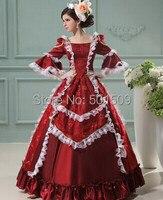 Bourgogne perles adultes longue robe médiévale Renaissance robe Sissi princesse gothique victorien Belle boule