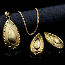 Sunny Jewelry Ethnic Jewelry 2017 Dubai High Quality Bridal Jewelry Set For Women Earrings Pendant Necklace Egg For Party Daily