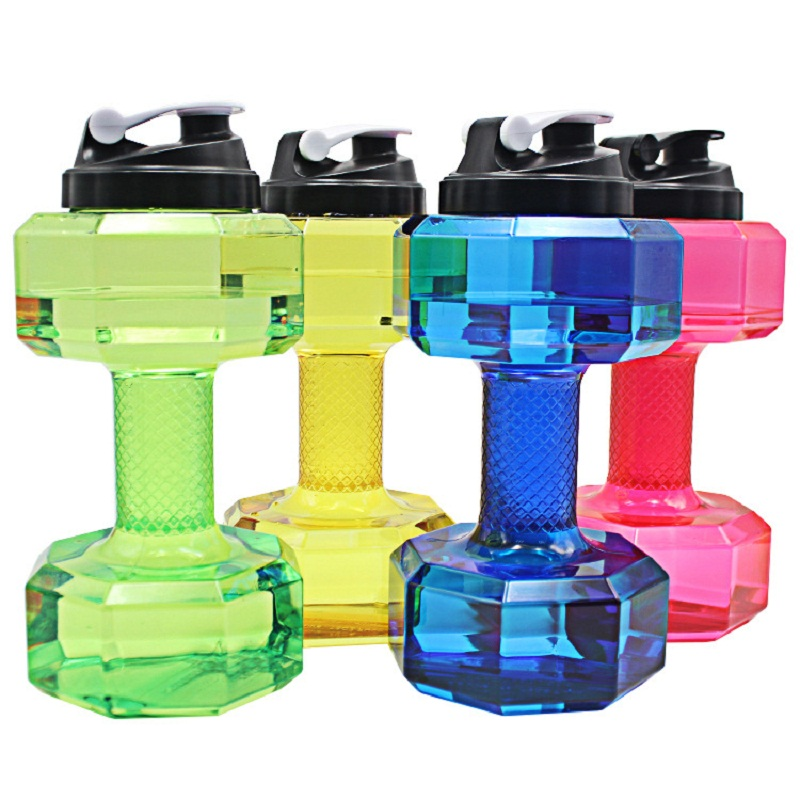 2.5L Dumbbells Shaped Plastic Big Large Capacity Gym Sports Water Bottle Outdoor Fitness Bicycle Bike Camping garrafa