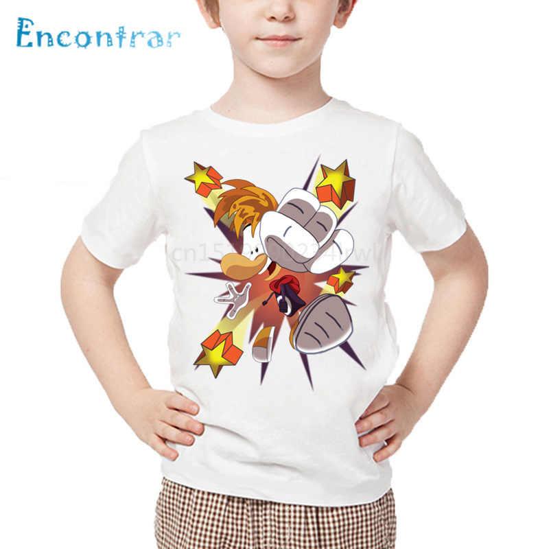 男の子漫画 Rayman は伝説冒険ゲームプリント Tシャツベビー女の子トップス子供カジュアルおかしい Tシャツ、 HKP5204