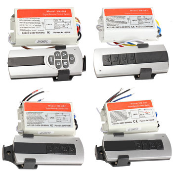 1/2/3/4 weisen AUF/OFF 220V Drahtlose Fernbedienung Schalter Digitale Fernbedienung Schalter für lampe & Licht WWO66