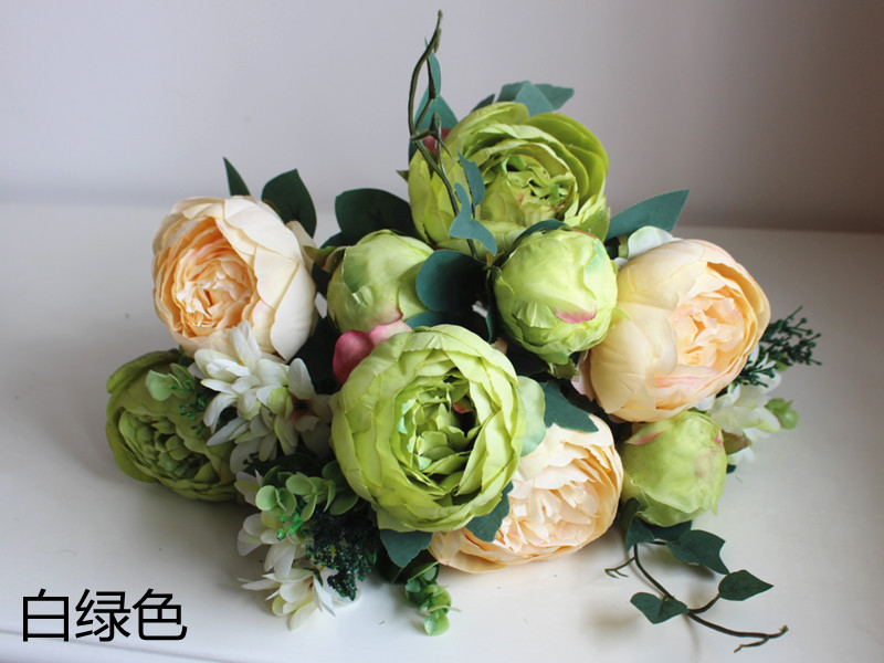 12 Flower Heads6 Colors Artificial Peony Flower In Artificial
