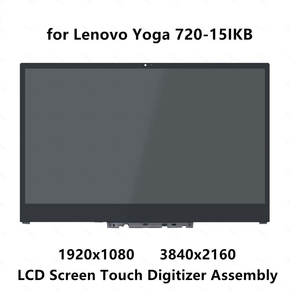 15 6 UHD 4K LCD Screen Display Panel Touch Glass Digitizer Assembly with Bezel For Lenovo