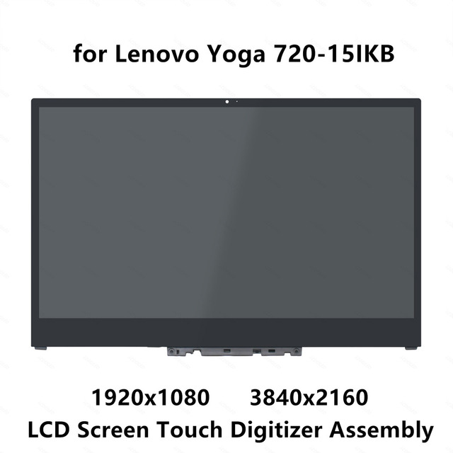 15 6'' UHD 4K LCD Screen Display Panel Touch Glass Digitizer Assembly with  Bezel For Lenovo Yoga 720-15IKB Yoga 720 15 3840X2160
