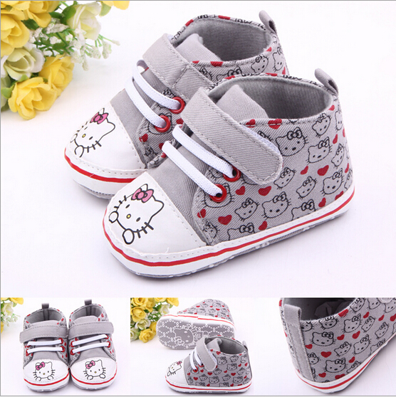 Lovely Hello Kitty Baby Shoes First Wakers Newbon Cartoon shoes Prewalker,Infant Antislip Sapato