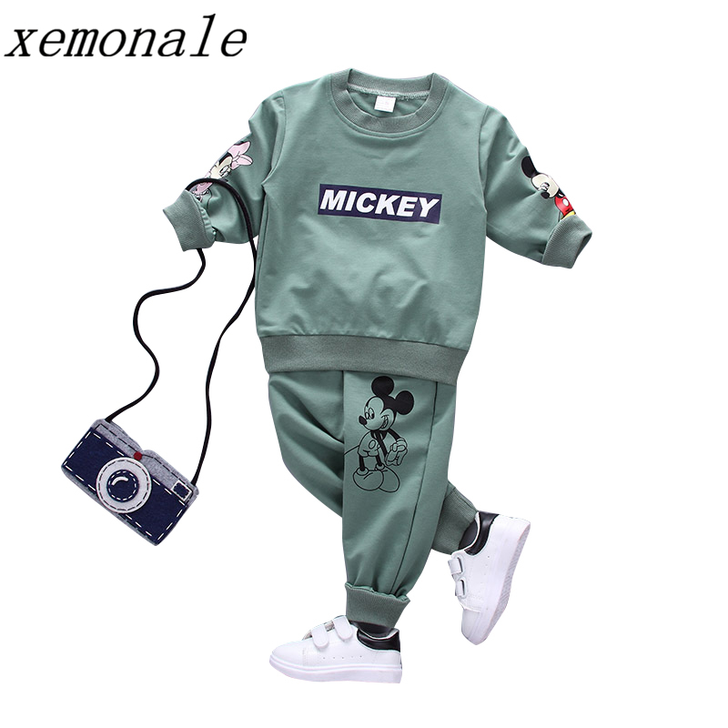 Spring Autumn Children Fashion Boys Girls Clothes T-Shirt Pants 2pcs Sets Kids Cotton Casual Clothing Suits Toddler Tracksuits