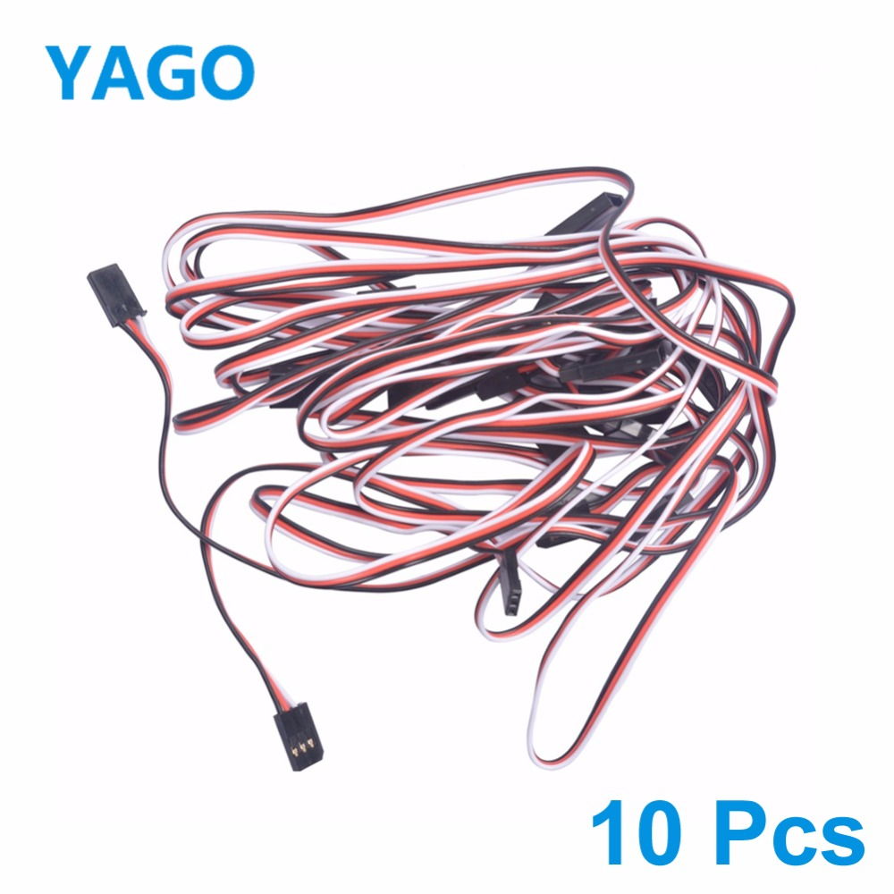 Futaba Wire Cable 100mm 150mm 300mm 500mm Servo Extension For Futaba Plug futabLead Wire Cable RC Cable Spare Parts (10 Pcs/Lot) communication cable for servo drive mr cpcatcbl3m cable mr j2s a