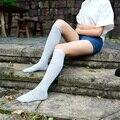 Nueva Moda Hot Sexy Sra. de Algodón Ocasional de Caramelo Calcetines de algodón calcetines Hasta La Rodilla mujeres de alto de rodilla Medias Femeninas QR318