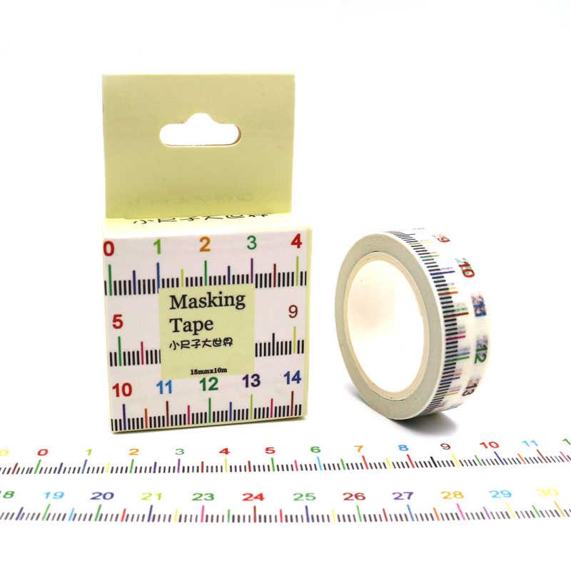 Paquete de caja de 15mm x 10m de ancho, novedad, cinta adhesiva Washi, cinta adhesiva decorativa para álbum de recortes, cinta adhesiva DIY