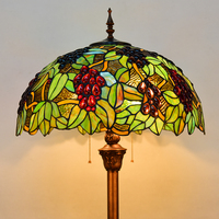 europe Tiffany retro style stained glass grape floor lamp living room bedroom study standing lamp