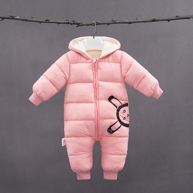 -30 degrees New Autumn Winter coat Baby wear Newborn Snowsuit Fotografia Boy Warm Romper Down Cotton Girl clothes Bodysuit 0-2Y