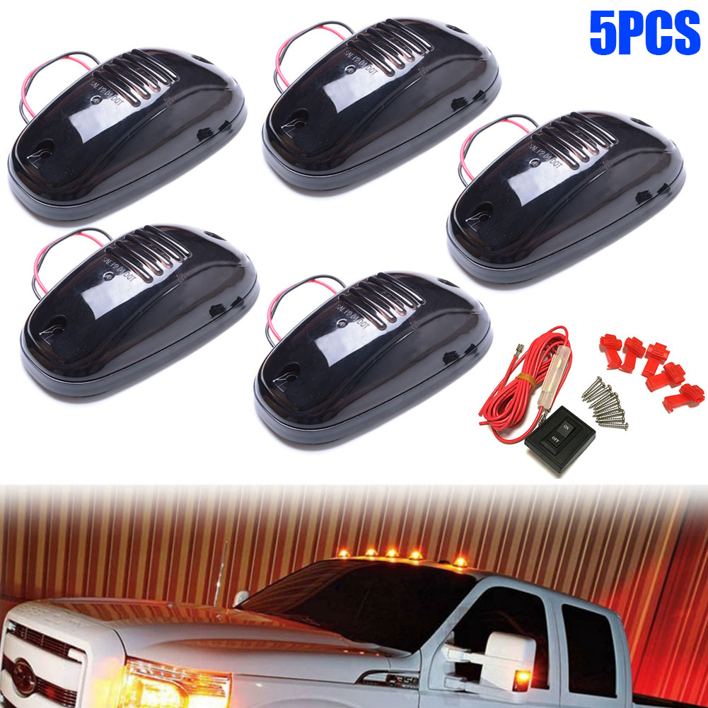 Do Promotion! 5 Pcs/Set 9 Leds 12V Vehicle Work Light Truck SUV Cab Roof Marker Car LED Top Flood Beam Driving Lamp 2018