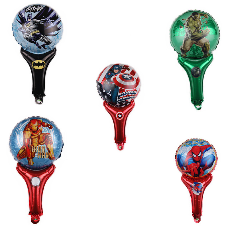 5pcs new superhero mini aluminum film balloons cartoon spider-man iron man childrens