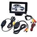 Авто автомобиль для укладки стайлинга автомобилей 4.3 Дюймов TFT LCD Монитор + Беспроводной Автомобиля Резервную Камеру Dec30