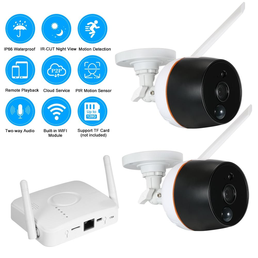 4ch wifi mini nvr kit video surveillance tf card record 2pcs 1080p wireless ip camera set audio. Black Bedroom Furniture Sets. Home Design Ideas