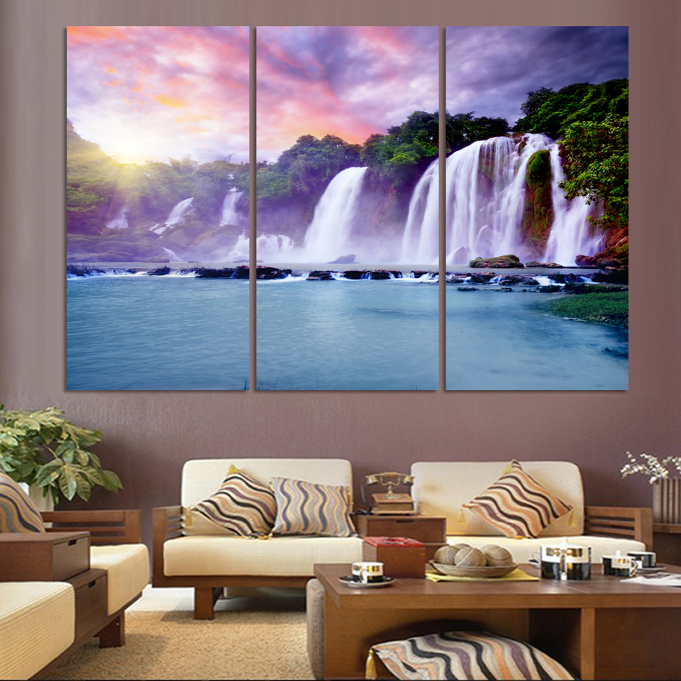 3 Pic Wall Art Landscape Canvas Paintings Home Decor Maple