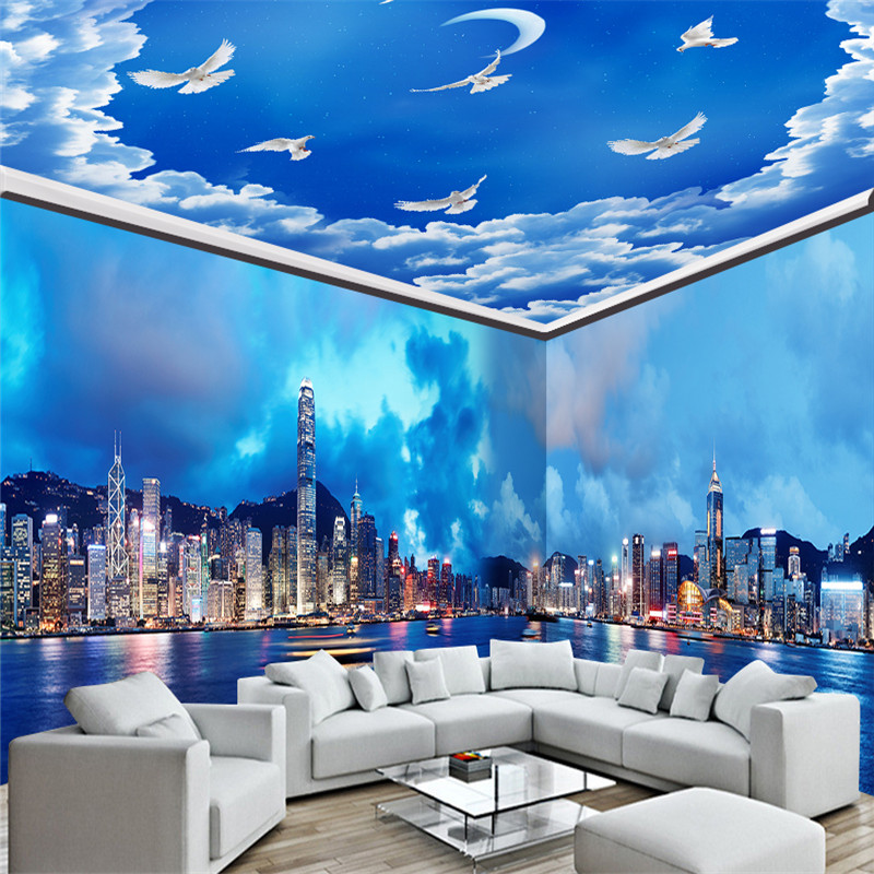 Whole House Murals Custom Large Wallpapers 3D City Landscape Photo Wallpapers for Living Room Bedroom Home Decor Wall Papers circle mirror photo wallpapers 3d modern abstract murals wall papers home decor wallpapers for living room wall paste wall mural