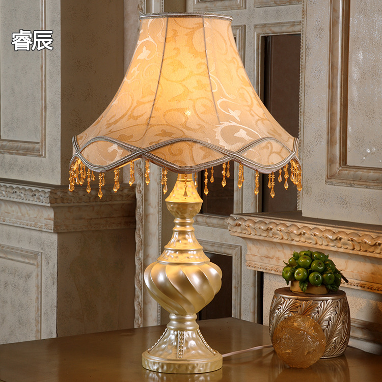 European Bedroom Light Luxury Living Room Retro Study Room Romantic Bedside Dimming Warm Fashion Hotel Decorative Table Lamp|LED Table Lamps| |  - title=
