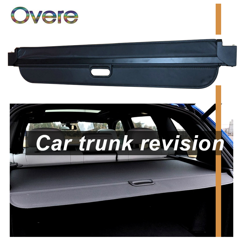 Overe 1Set Car Rear Trunk Cargo Cover For BMW X5 E70 F15 2007 2018 Car styling Black Security Shield Shade Auto accessories
