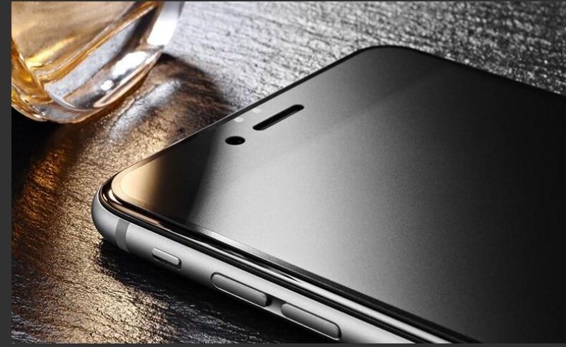 9H 2.5D matowy matowy pełna pokrywa szkło hartowane Screen Protector dla iPhone X XS MAX XR 10 8 7 6s 6 Plus 7Plus anty odciski palców 7