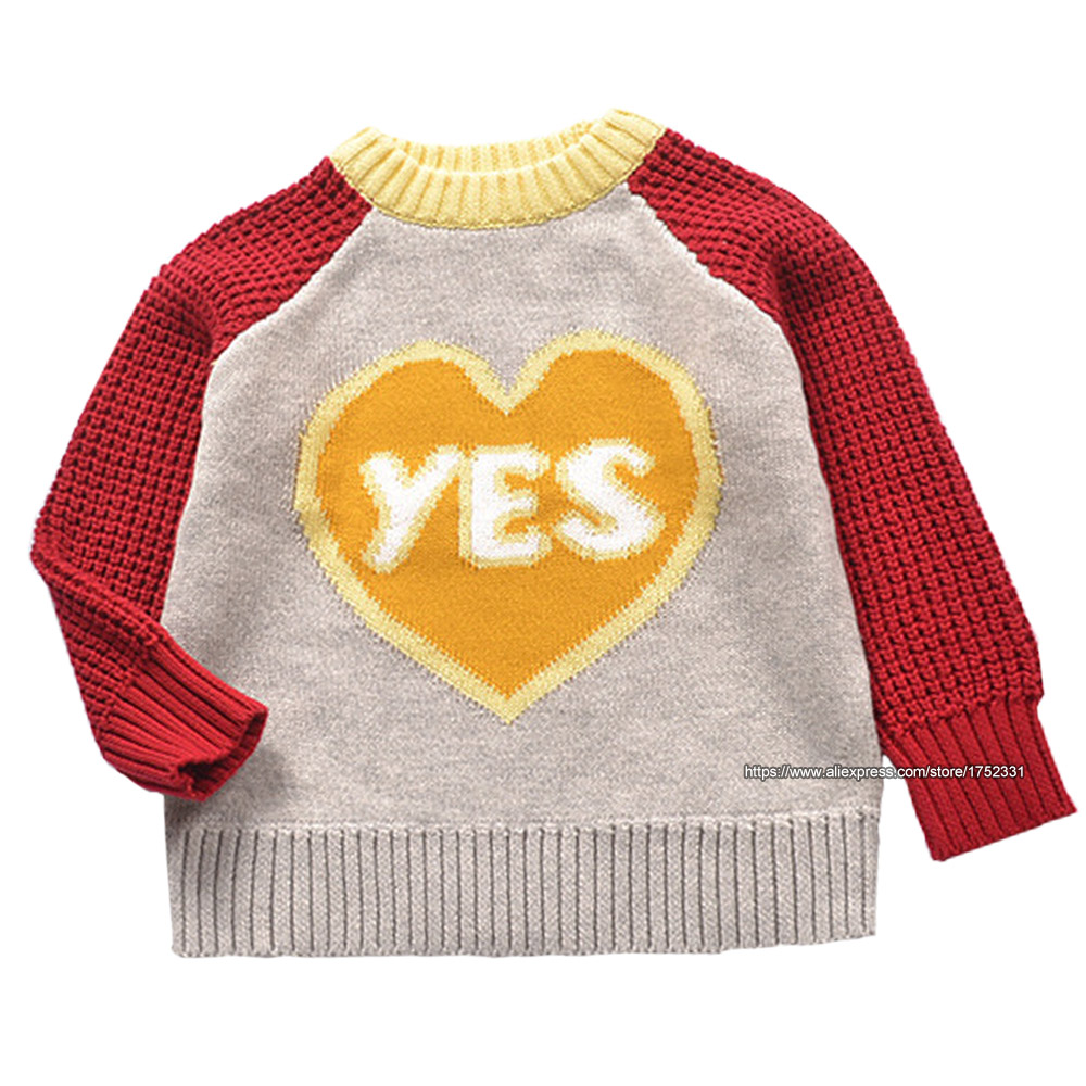 QUIKGROW-Winter-Warm-Textured-YES-PARTY-Unisex-Infant-Girls-Sweater-Baby-Boy-Pullover-Cute-Retro-Style-Jumpers-YM18MY-2
