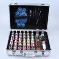 Venda quente 38 Cores Kit Glitter Tattoo Pó para Pintura Corporal Temporária Praia Corpo Partido Makeup Tools Frete Grátis