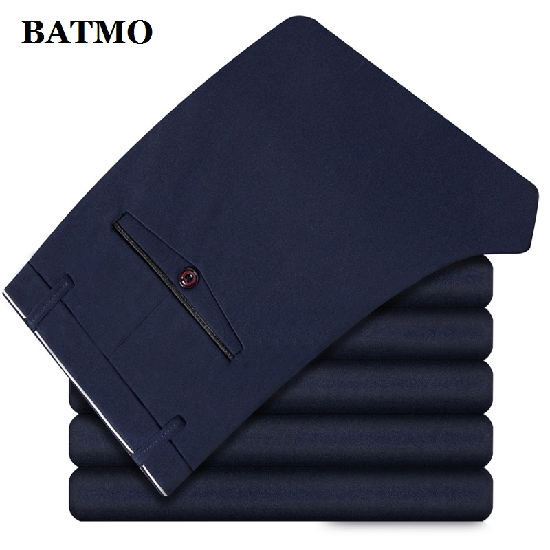 BATMO 2019 New Arrival High Quality Casual Pants Men,men's Smart Casual Pants,elastic Trousers,plus-size 1828