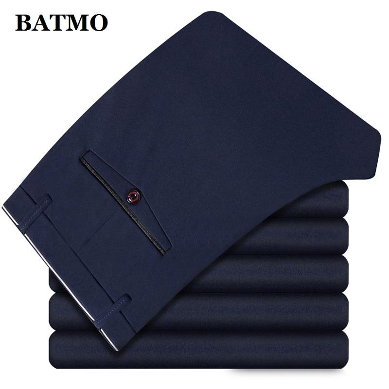 BATMO 2019 new arrival high quality casual pants men men s smart casual pants elastic trousers Innrech Market.com