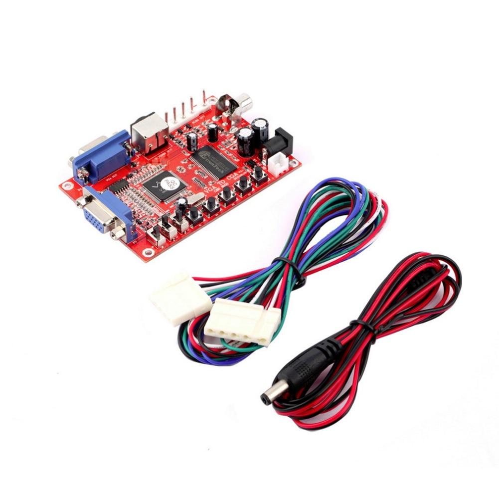 VGA TO CGA CVBS S-VIDEO CONVERTER Board PC to VGA GBS-8100 Video Game Converter сковорода для блинов mayer