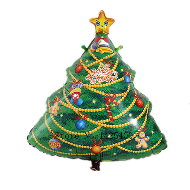 TSZWJ V-001 Free shipping Christmas tree decoration Christmas party balloon aluminum balloons wholesale