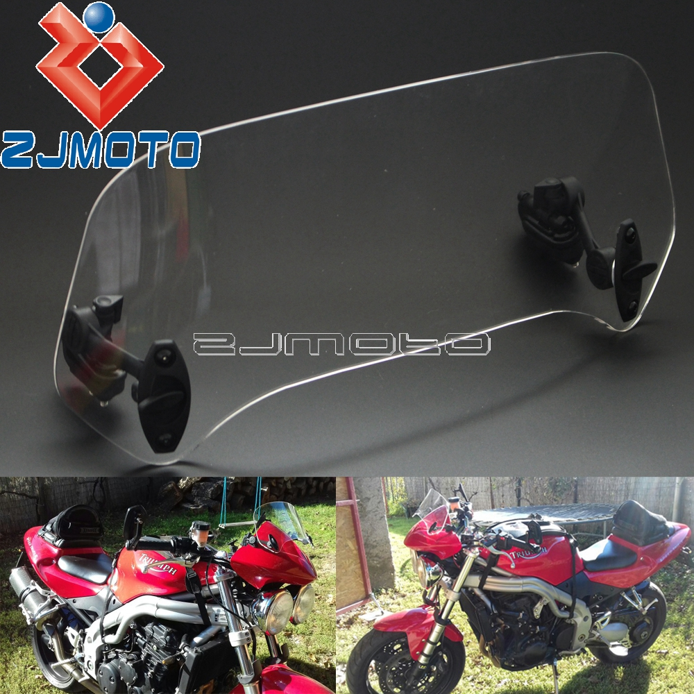 Motorcycle Adjustable Spoiler Windshield Extension X Creen For Triumph Tiger 1050 Ducati Multistrada Kawasaki Versys 650