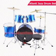5 font b Drums b font 3 Crash Cymbals Blue color Afanti font b Music b