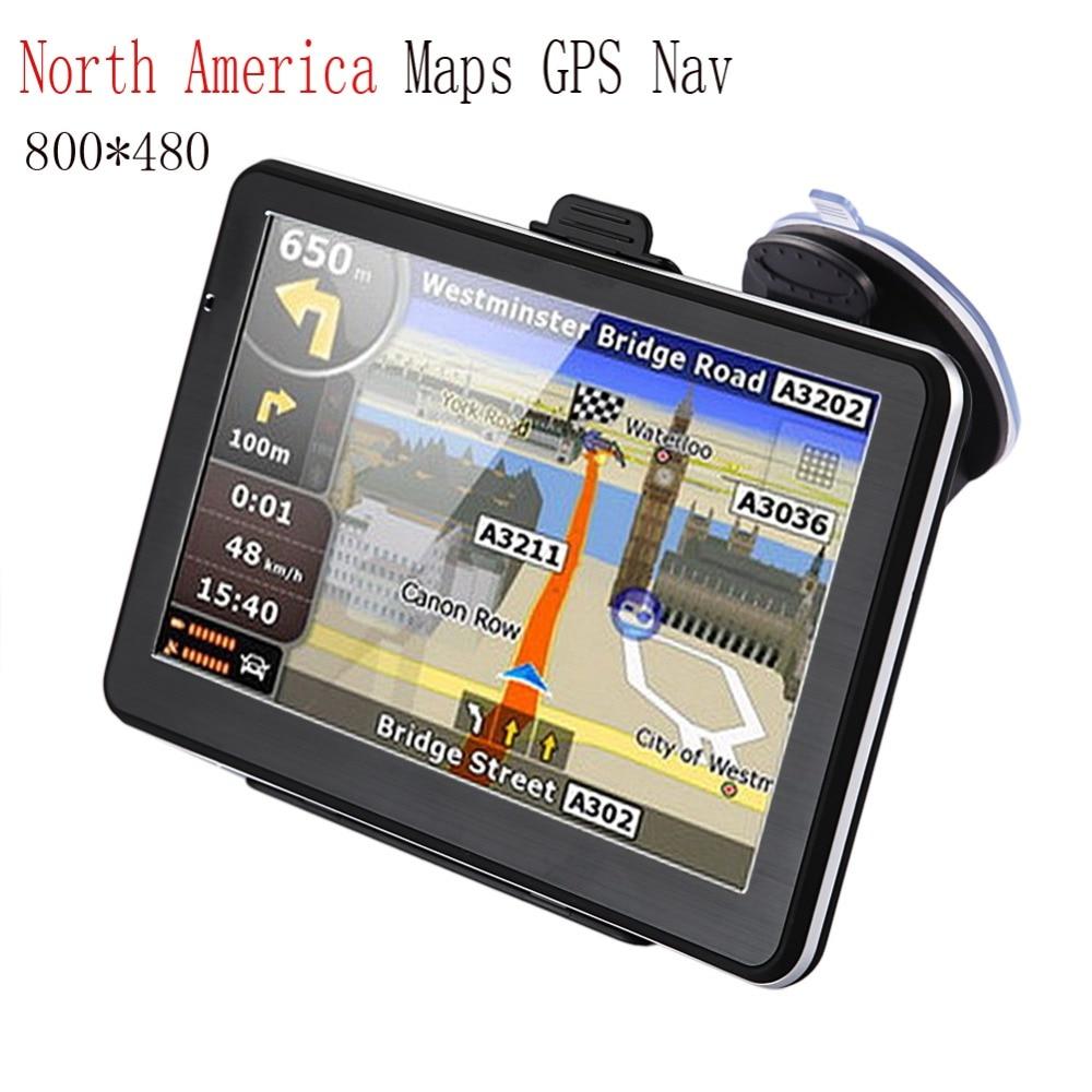 """imágenes para 7 """"Pantalla táctil de Navegación GPS Bluetooth FM Transmisor 24 V Cargador de Coche Reproductor De Música para América Del Norte Mapas GPS Nav"""
