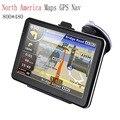 """7 """"Tela de toque de Navegação GPS Do Carro Do Bluetooth Transmissor FM Music Player Do Carro Carregador de 24 V para a América Do Norte Mapas GPS Nav"""